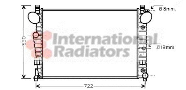 Radiateur, refroidissement du moteur - VAN WEZEL - 30002308