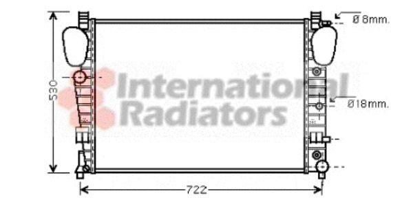 Radiateur, refroidissement du moteur - VAN WEZEL - 30002309