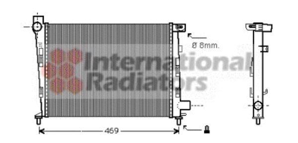 Radiateur, refroidissement du moteur - VAN WEZEL - 30002310