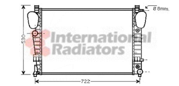 Radiateur, refroidissement du moteur - VAN WEZEL - 30002311