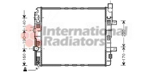 Radiateur, refroidissement du moteur - VAN WEZEL - 30002319