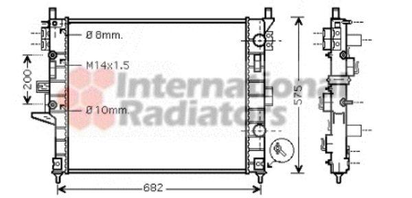 Radiateur, refroidissement du moteur - VAN WEZEL - 30002331