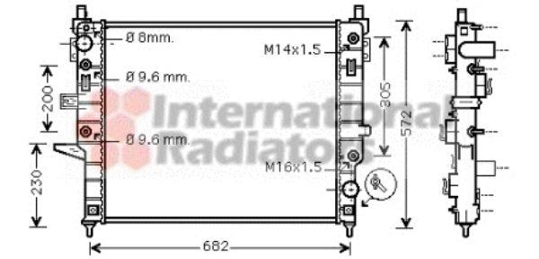 Radiateur, refroidissement du moteur - VAN WEZEL - 30002332
