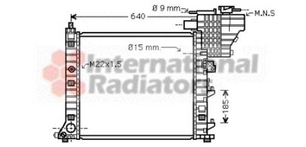 Radiateur, refroidissement du moteur - VAN WEZEL - 30002335