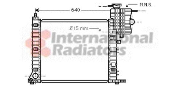 Radiateur, refroidissement du moteur - VAN WEZEL - 30002336