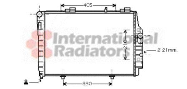 Radiateur, refroidissement du moteur - VAN WEZEL - 30002337
