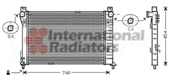 Radiateur, refroidissement du moteur - VAN WEZEL - 30002338