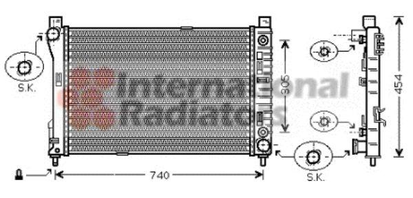 Radiateur, refroidissement du moteur - VAN WEZEL - 30002339