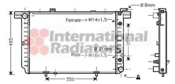Radiateur, refroidissement du moteur - VAN WEZEL - 30002340
