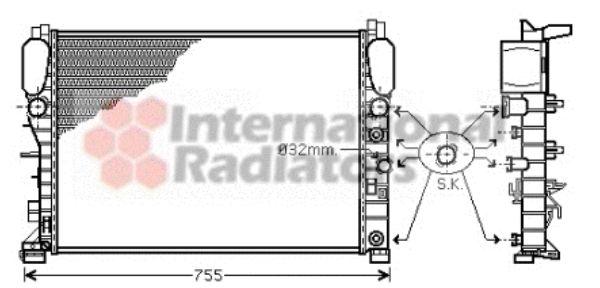 Radiateur, refroidissement du moteur - VAN WEZEL - 30002342