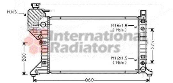 Radiateur, refroidissement du moteur - VAN WEZEL - 30002343