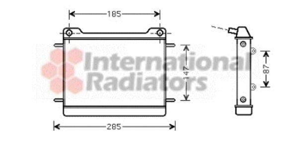 Radiateur, refroidissement du moteur - VAN WEZEL - 30002347