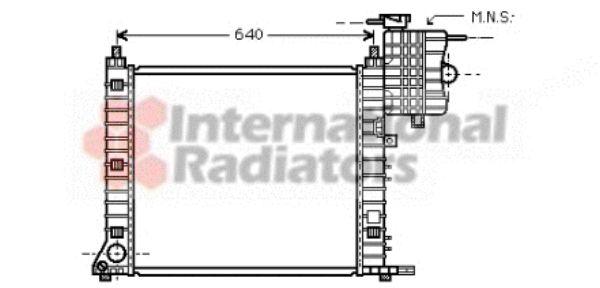 Radiateur, refroidissement du moteur - VAN WEZEL - 30002348