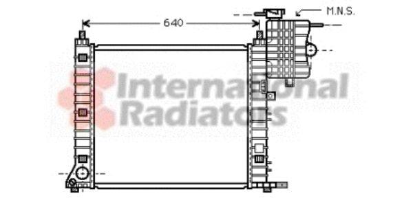 Radiateur, refroidissement du moteur - VAN WEZEL - 30002349
