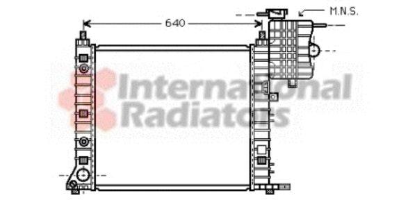 Radiateur, refroidissement du moteur - VAN WEZEL - 30002350