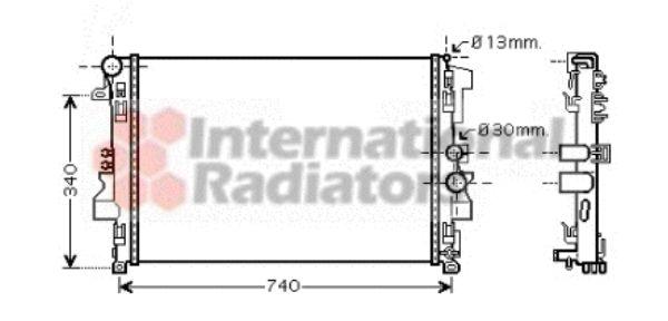 Radiateur, refroidissement du moteur - VAN WEZEL - 30002356