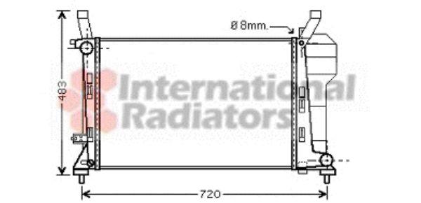 Radiateur, refroidissement du moteur - VAN WEZEL - 30002363