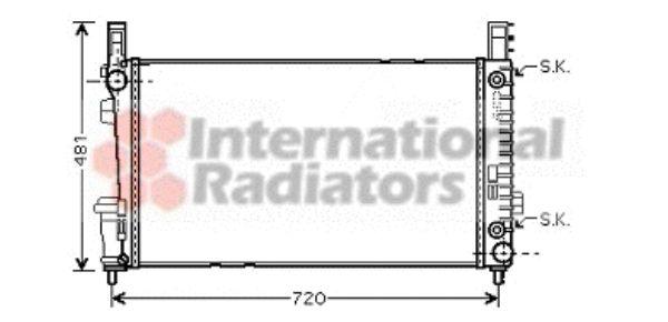 Radiateur, refroidissement du moteur - VAN WEZEL - 30002364