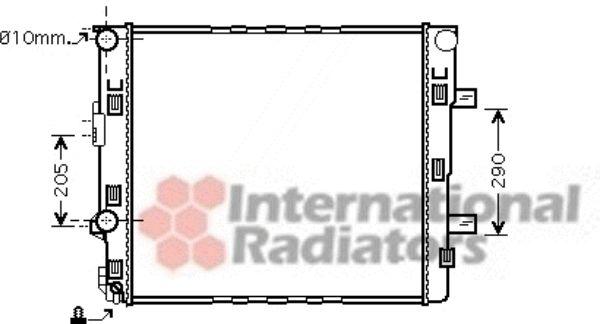 Radiateur, refroidissement du moteur - VAN WEZEL - 30002405