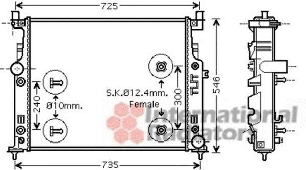 Radiateur, refroidissement du moteur - VAN WEZEL - 30002436