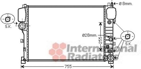 Radiateur, refroidissement du moteur - VAN WEZEL - 30002447