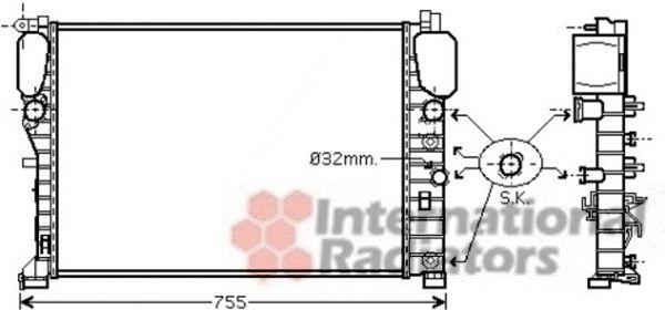 Radiateur, refroidissement du moteur - VAN WEZEL - 30002449