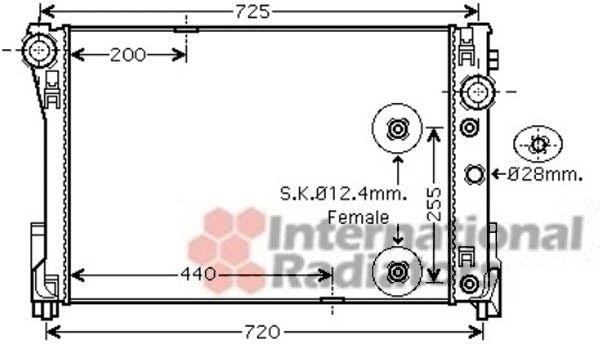 Radiateur, refroidissement du moteur - VAN WEZEL - 30002452