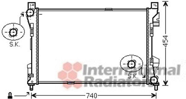 Radiateur, refroidissement du moteur - VAN WEZEL - 30002463