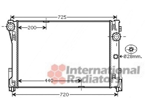 Radiateur, refroidissement du moteur - VWA - 88VWA30002474