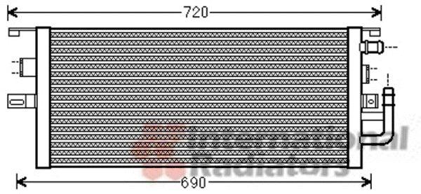 Radiateur, refroidissement du moteur - VAN WEZEL - 30002479