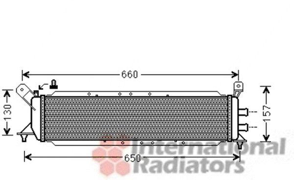 Radiateur, refroidissement du moteur - VAN WEZEL - 30002482