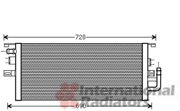 Radiateur, refroidissement du moteur - VAN WEZEL - 30002487