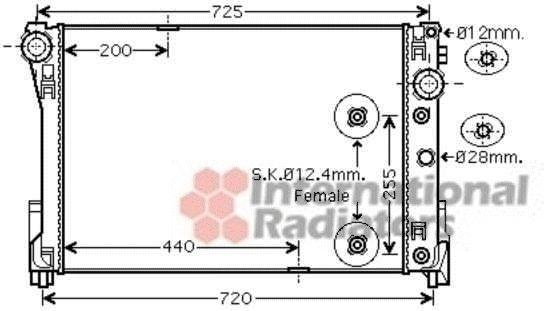 Radiateur, refroidissement du moteur - VAN WEZEL - 30002491