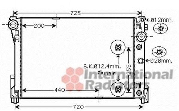 Radiateur, refroidissement du moteur - VAN WEZEL - 30002546
