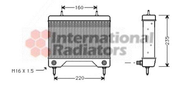 Radiateur d'huile - VAN WEZEL - 30003115