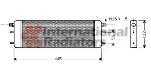 Radiateur d'huile - VAN WEZEL - 30003139