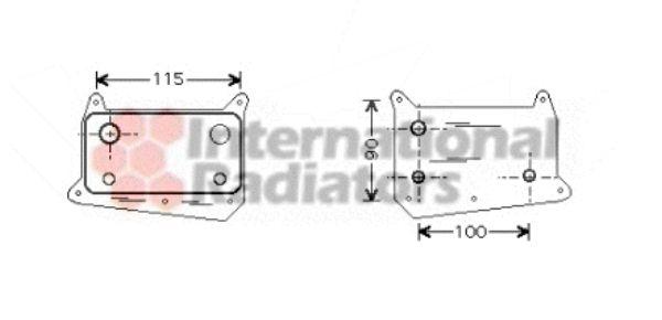 Radiateur d'huile - VAN WEZEL - 30003318