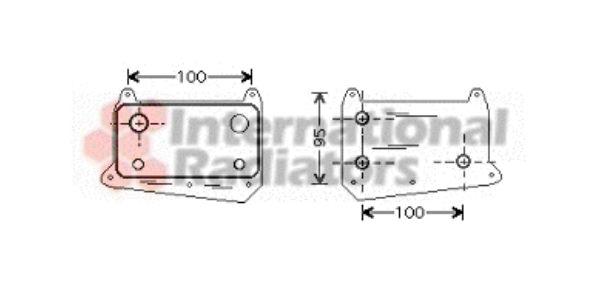 Radiateur d'huile - VAN WEZEL - 30003376