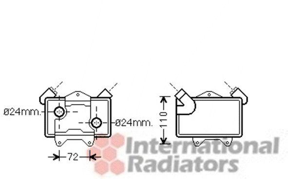 Radiateur d'huile - VAN WEZEL - 30003477