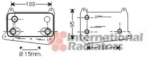Radiateur d'huile - VAN WEZEL - 30003495