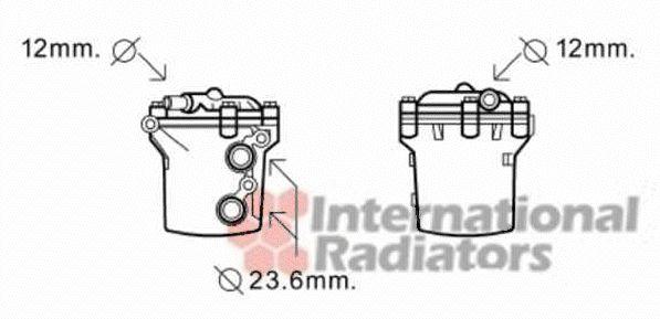Radiateur d'huile - VAN WEZEL - 30003541