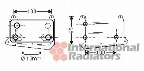 Radiateur d'huile - VAN WEZEL - 30003552