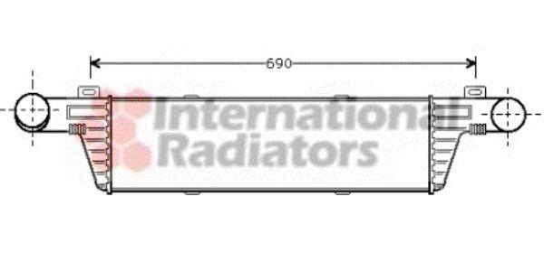 Intercooler, échangeur - VAN WEZEL - 30004224