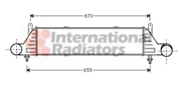Intercooler, échangeur - VAN WEZEL - 30004260