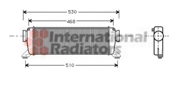 Intercooler, échangeur - VAN WEZEL - 30004261