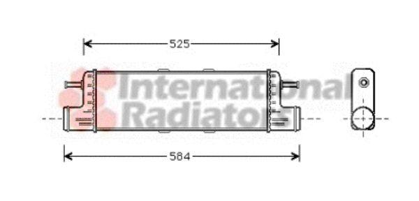 Intercooler, échangeur - VAN WEZEL - 30004285