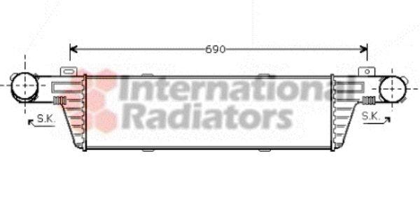 Intercooler, échangeur - VAN WEZEL - 30004296