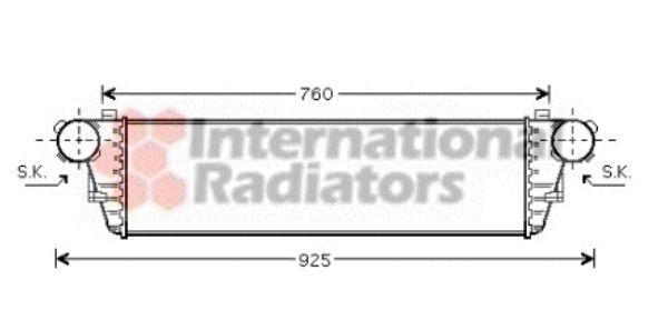 Intercooler, échangeur - VAN WEZEL - 30004297