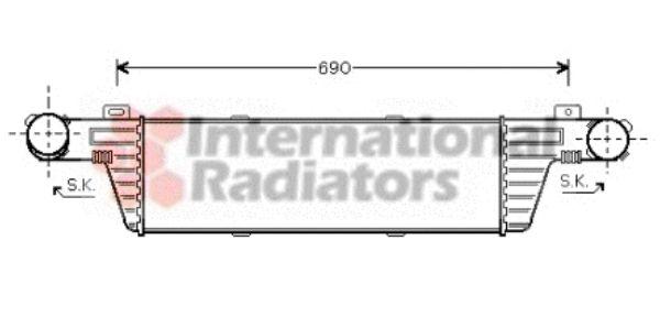 Intercooler, échangeur - VAN WEZEL - 30004315