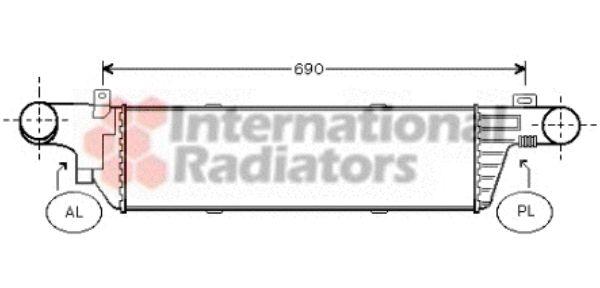 Intercooler, échangeur - VAN WEZEL - 30004320